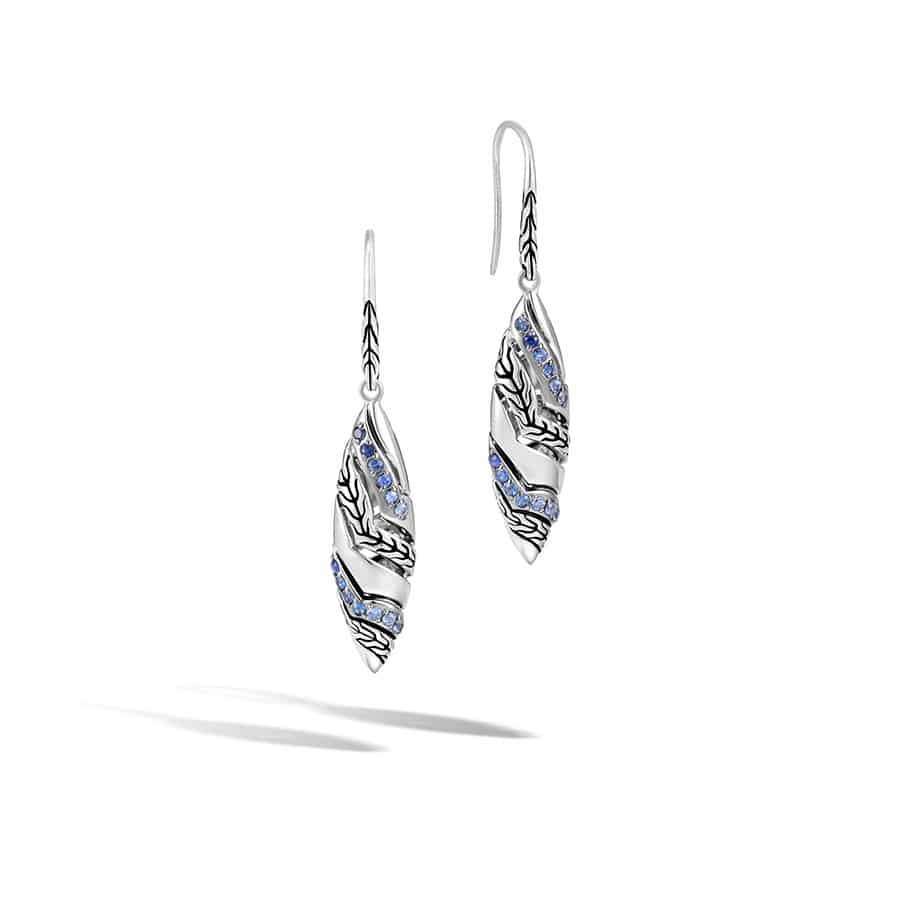 Marquise Drop Earring with Blue Sapphire