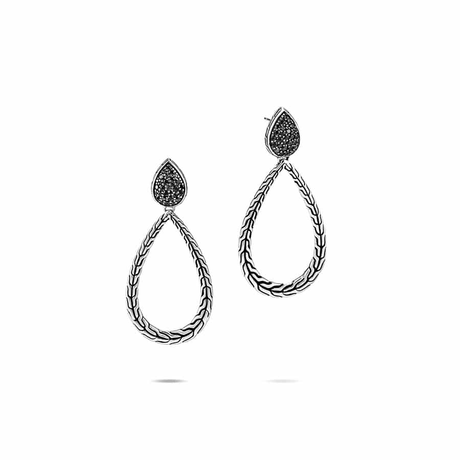 Classic Chain Drop Earring in Silver with Gemstone by John Hardy