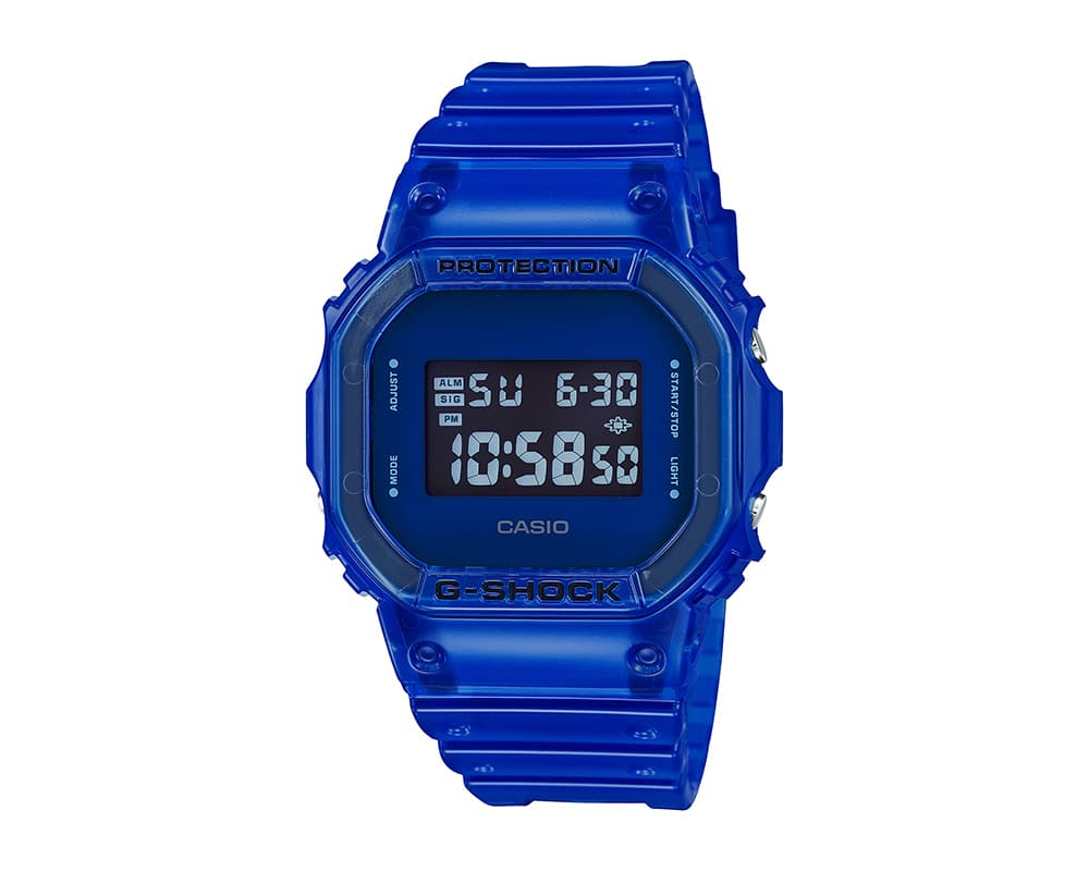 G-SHOCK DW-5600SB-S BLUE TRANSPARENT
