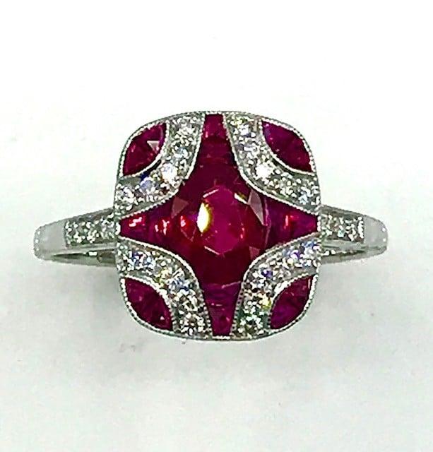 Ladies Fashion Colored Stone Ring