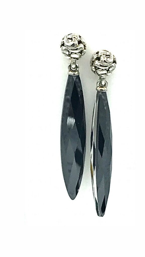 Sterling Silver Charles Krypell Ivy Collection Earrings