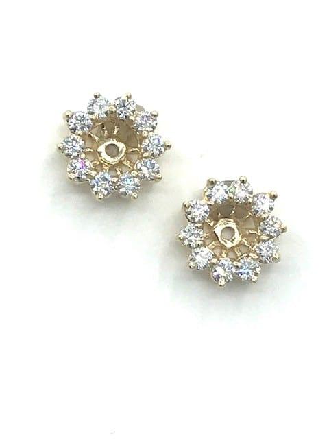 Diamond Earring Jackets in 14K Yellow Gold