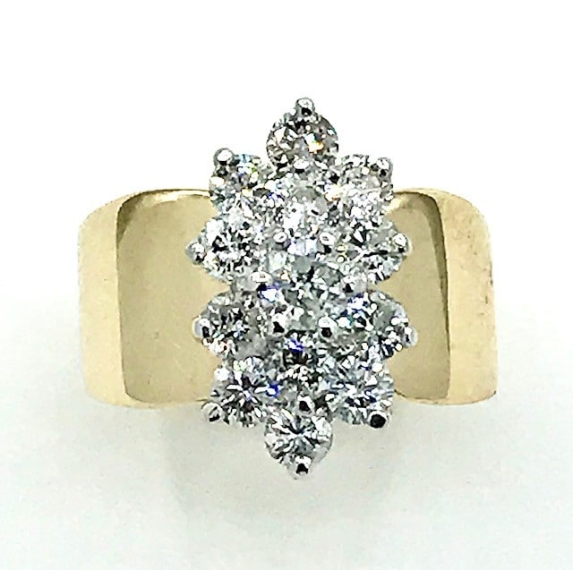 14K Gold Diamond Fashion Ring
