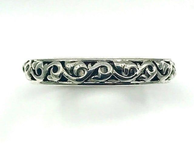 Charles Kyrpell Sterling Silver Wedding Band Ring