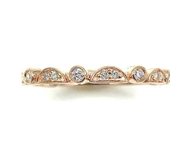 Diamond and 14K Rose Gold Band