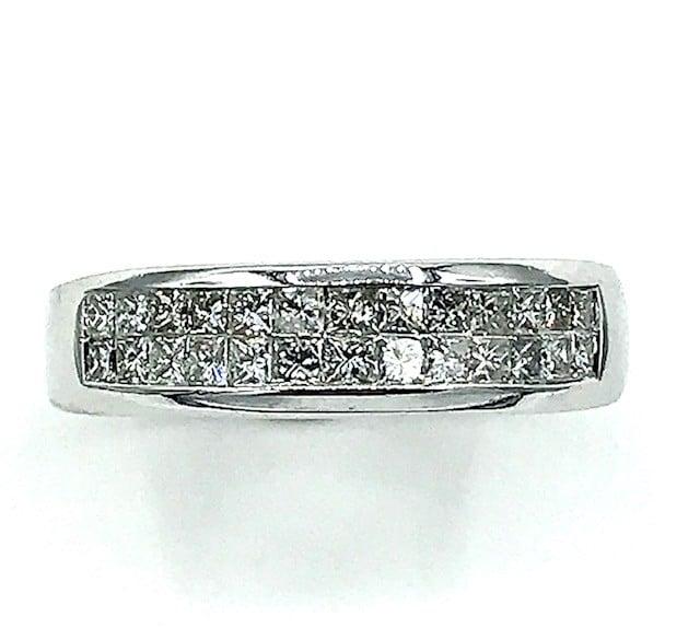 White Gold Diamond Fashion Band Rings
