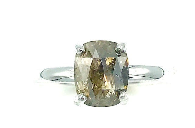 1.25 carat Diamond Solitaire 14K White Gold Diamond Ring