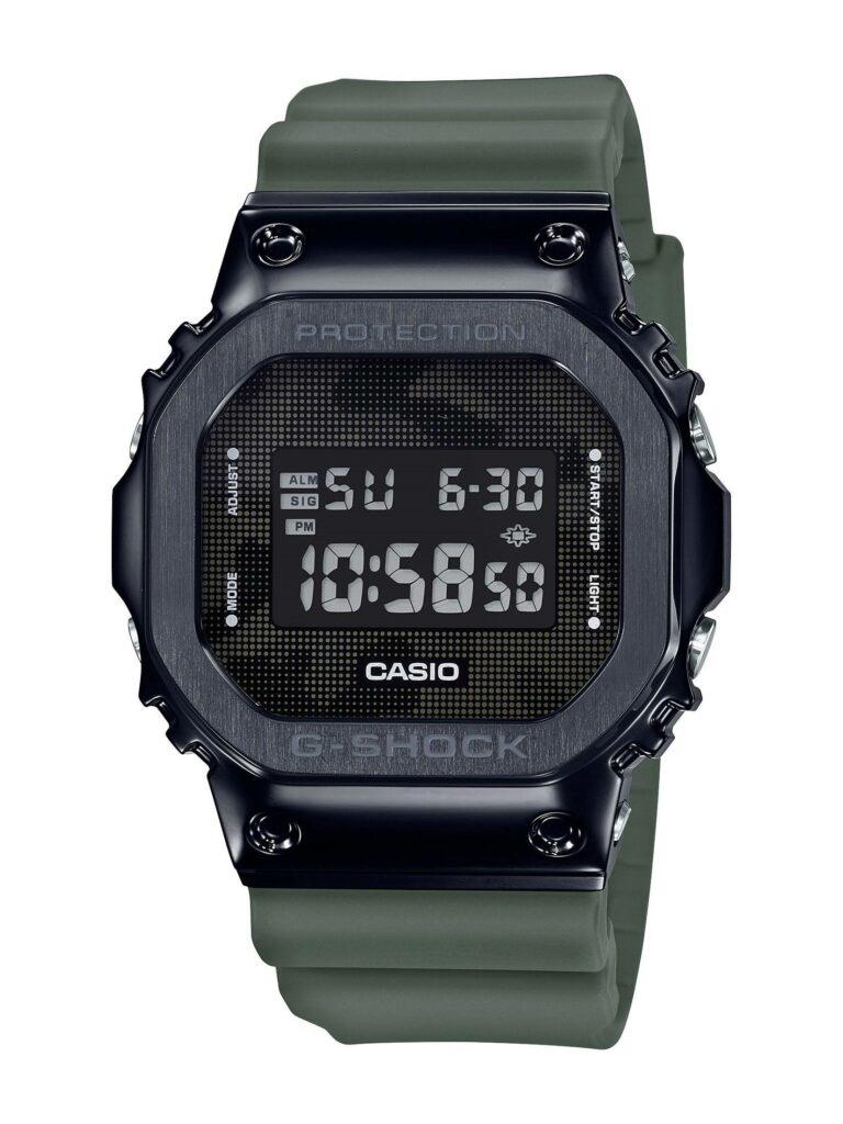 CASIO G-SHOCK WATCH  STAINLESS STEEL CAMO RESIN DIGITAL WATCH GM5600B-3
