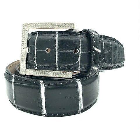 Diamond Sterling Silver Belt Buckle