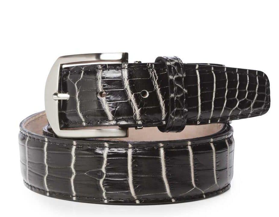 Nile Crocodile 40mm L. E. N. Lifestyle Belt In Black And White