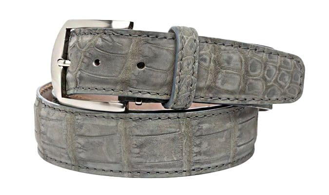 Buffed American Alligator 40mm L. E. N. Lifestyle Belt In Gravel