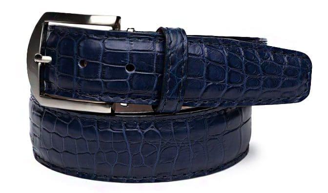American Alligator 40mm L. E. N. Lifestyle Belt In Dark Blue