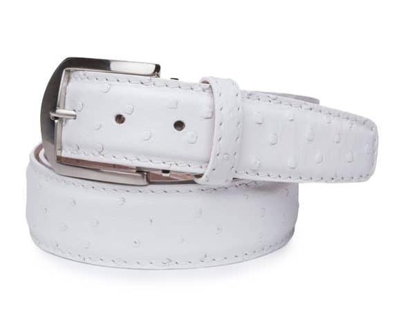 Ostrich 40mm L. E. N. Lifestyle Belt In White