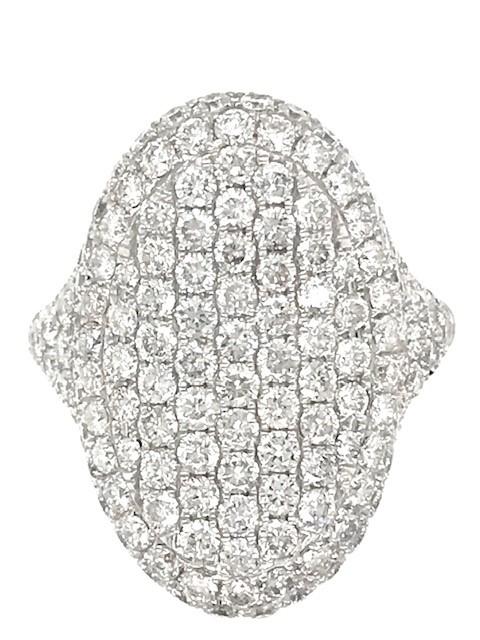 Pavé Diamond Cluster Ring