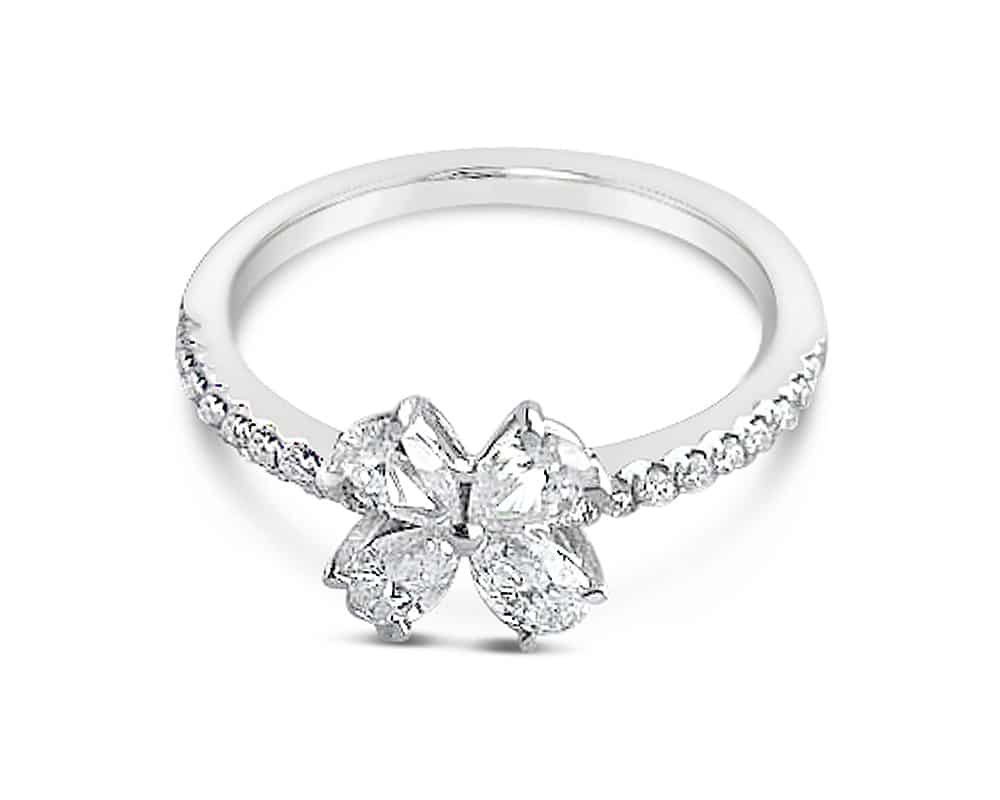 Diamond Floral Fashion Ring