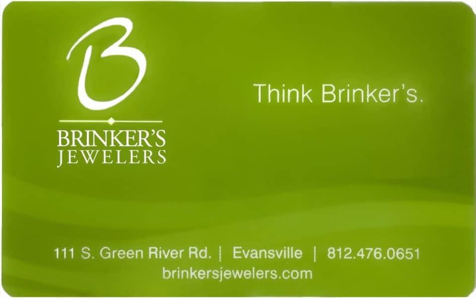 BRINKER`S JEWELERS $250 GIFT CARD