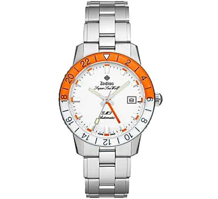 Limited Edition Super Sea Wolf GMT Automatic Stainless Steel with Orange Accents