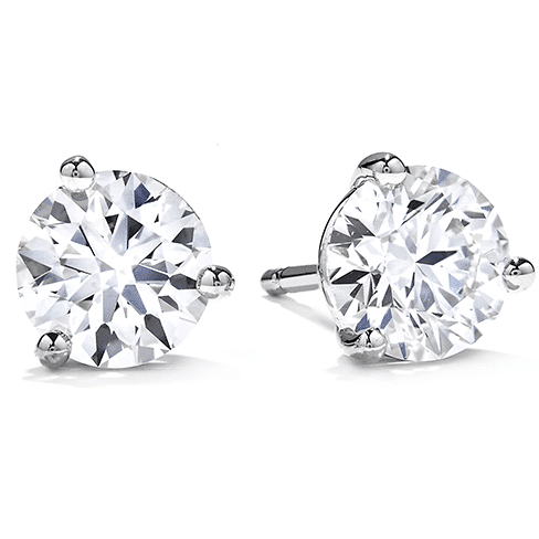 Diamond Stud Earrings In Martini Settings