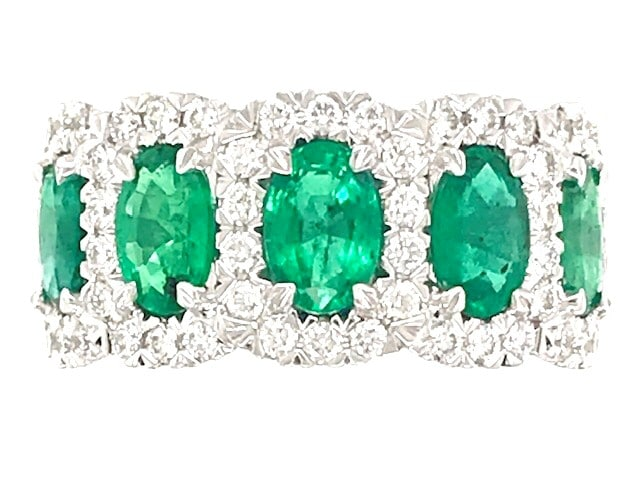 Christopher Designs Emerald and Diamond Ring