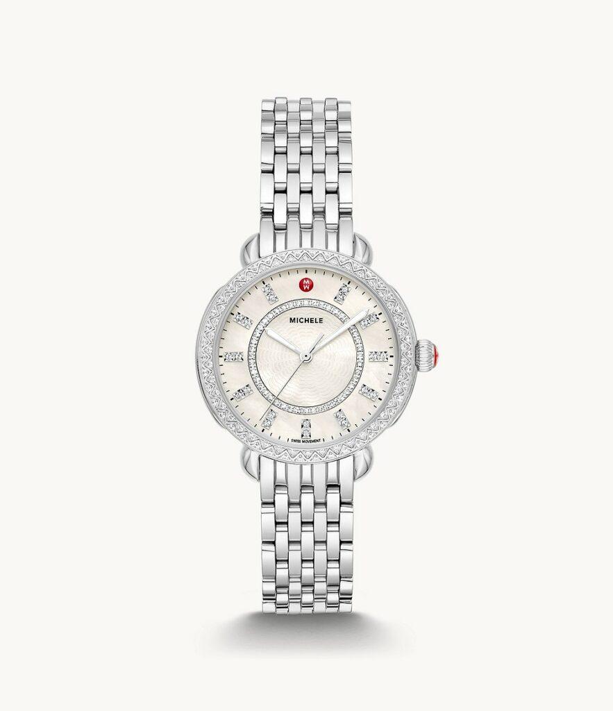 Sidney Stainless Steel Diamond Watch by MICHELE MWW30B000001