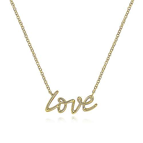 14K Yellow Gold Love Necklace