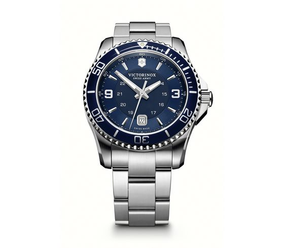 Maverick 43MM Blue Dial Stainless Steel Bracelet