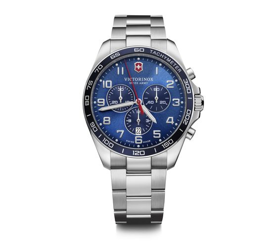 FieldForce Classic Chrono Blue Dial Stainless Steel Bracelet