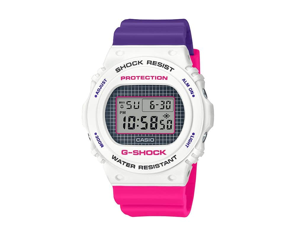 Limited Edition Casio G-Shock DW5700THB LE Digital Resin White Purple Pink