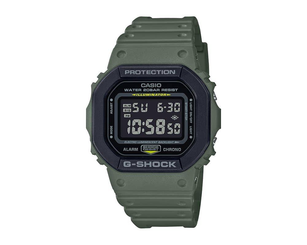 Green With Black Bezel G-Shock DW5610SU-3