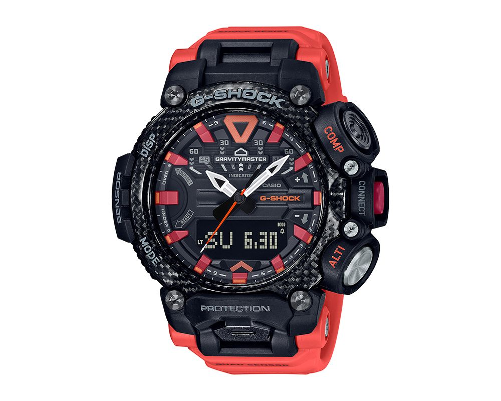 GRAVITYMASTER G-Shock With Red Accents GRB200-1A9
