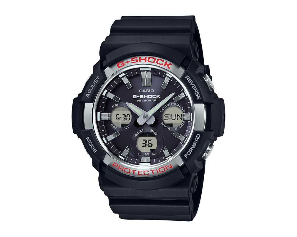 Stainless Steel Bezel With Red  Accents G-Shock GAS100-1A