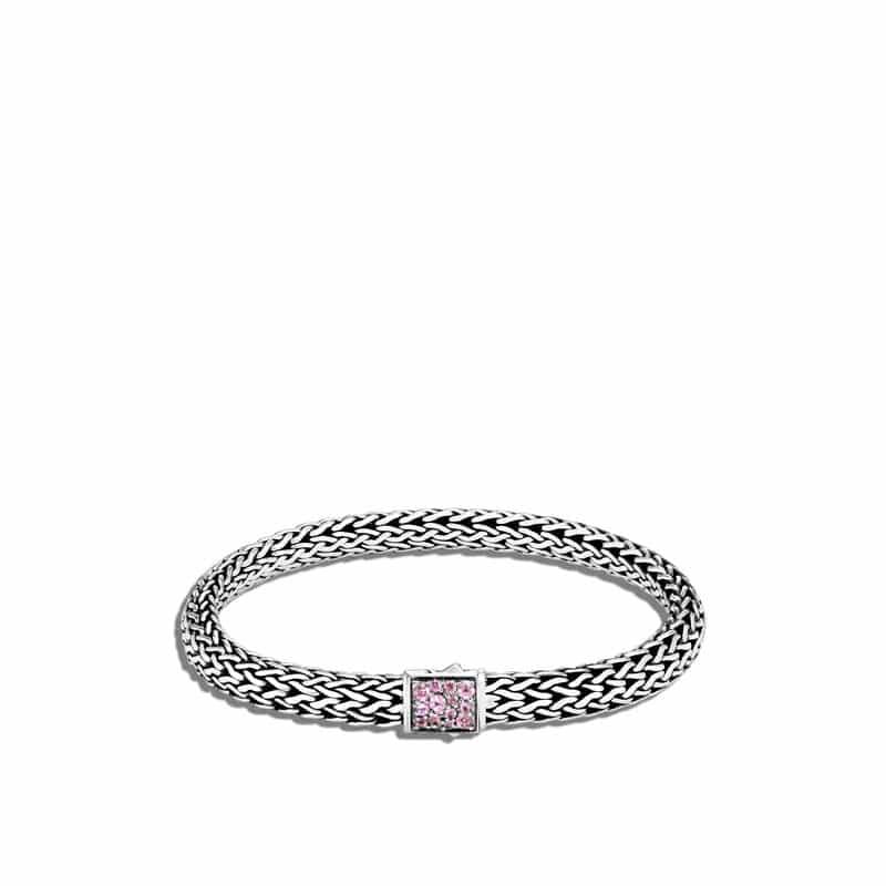 Pink Tourmaline Reversible Bracelet