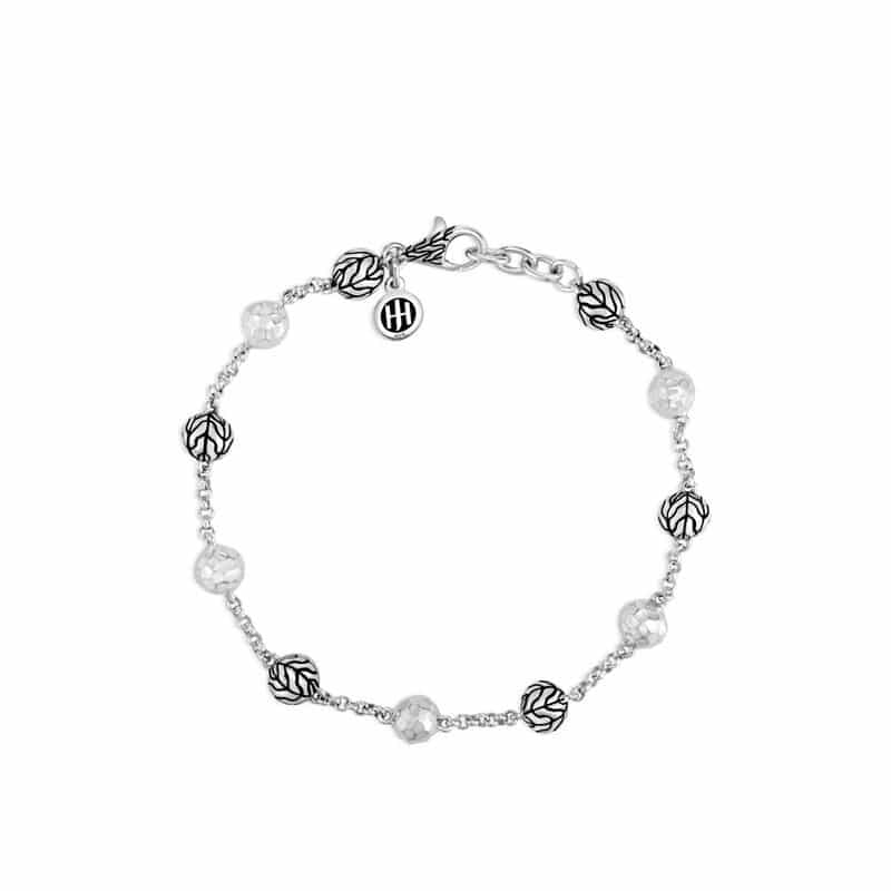 Classic Chain Hammered Bead Bracelet