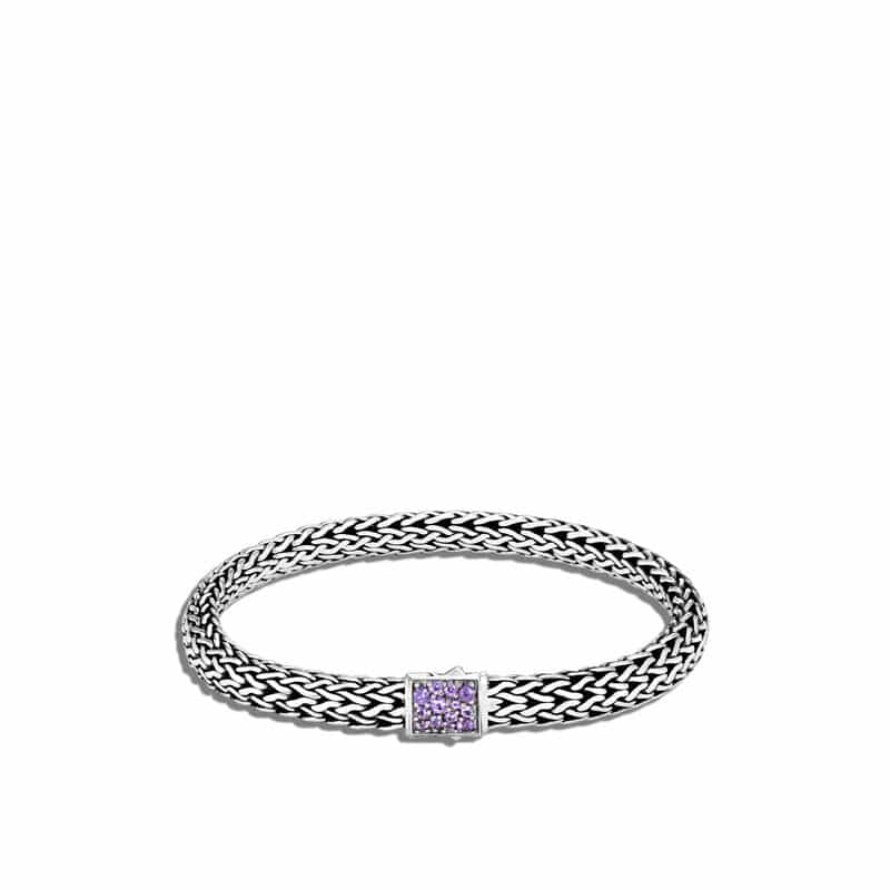 Reversible Bracelet With Amethyst and Black Sapphire
