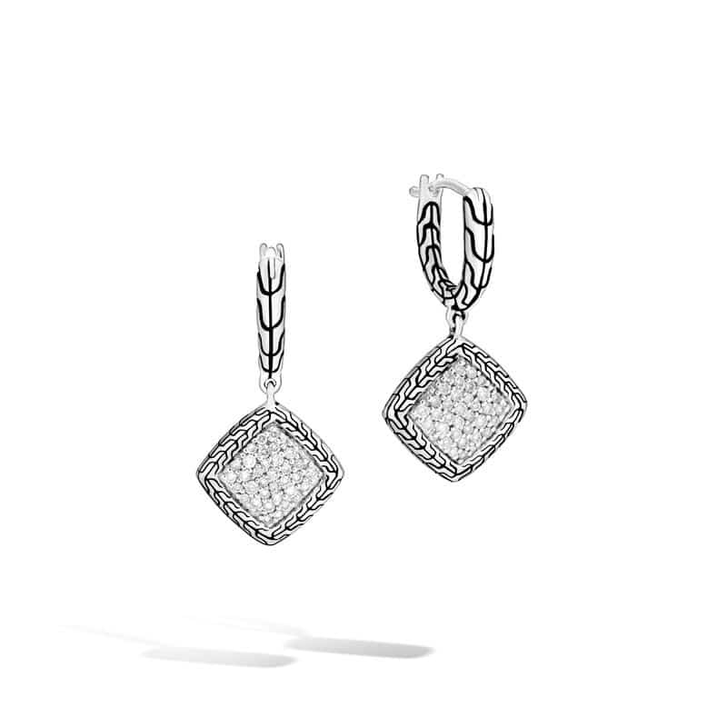 Classic Chain Drop Earring with Diamonds