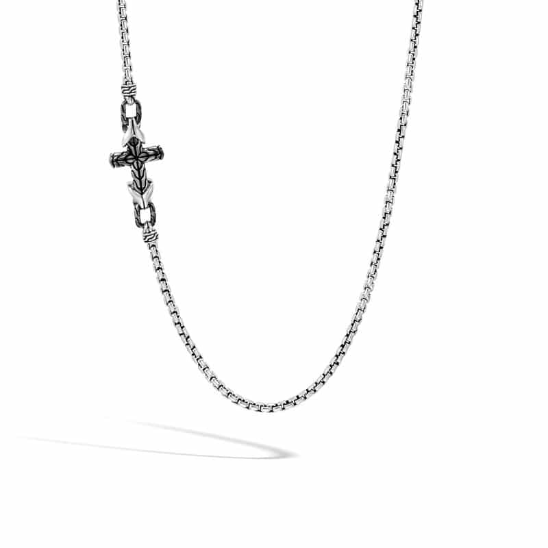 Asli Classic Chain Link Box Chain Cross Necklace