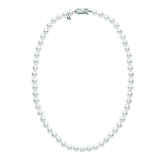 MikiMoto A Quality Pearls Strand  With 18K Clasp