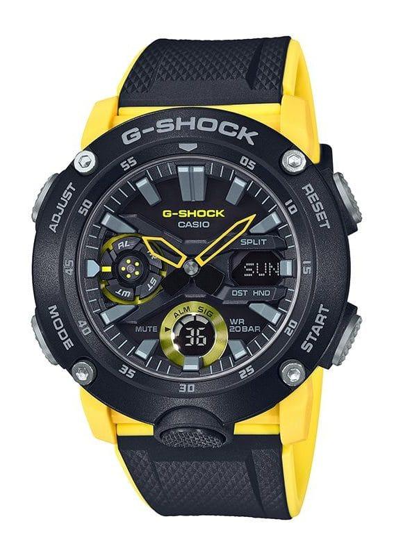 G-Shock GA2000 Carbon Core Ana-Digi Black Yellow