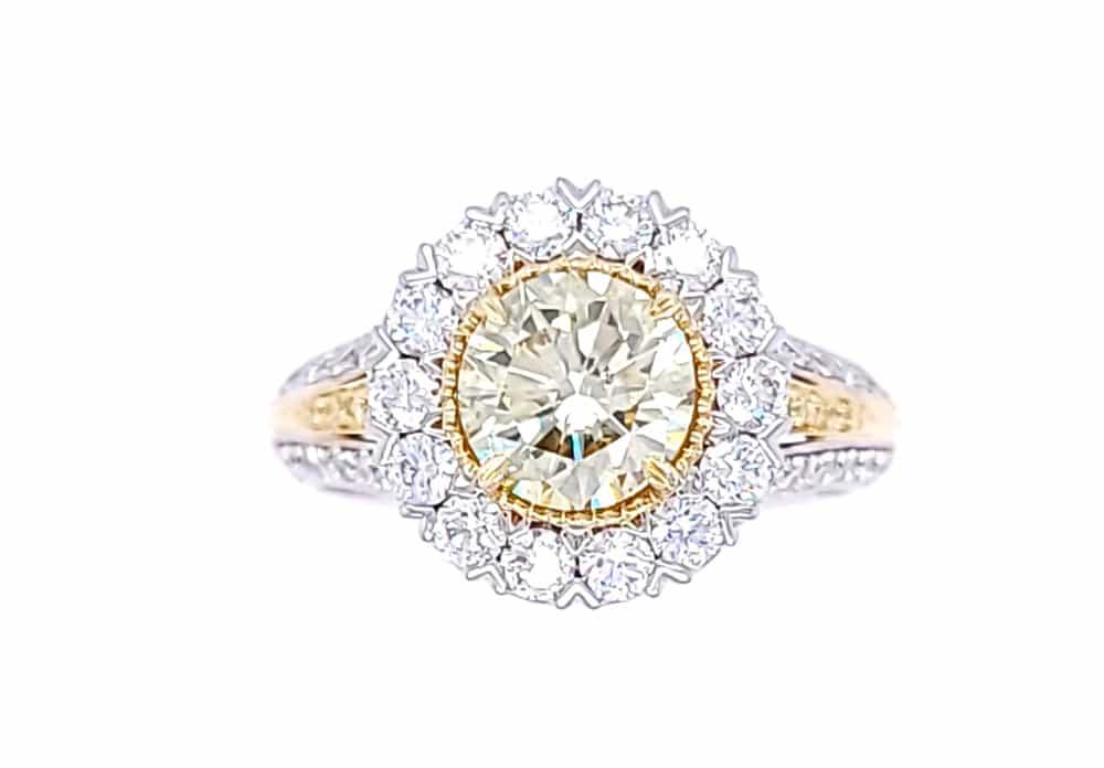 Diamond Christopher Designs 18K Gold Engagement Ring