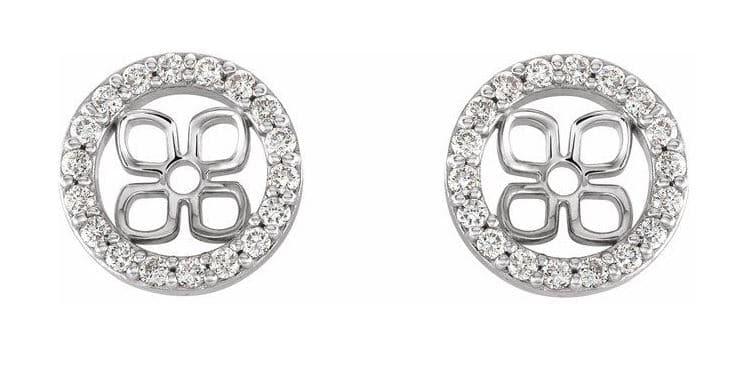 Diamond Earring Jackets 14K White