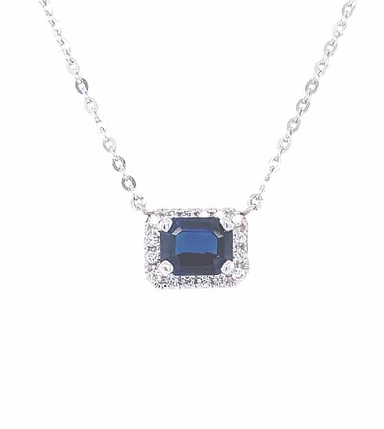 Sapphire 18K White Gold Fashion Necklace