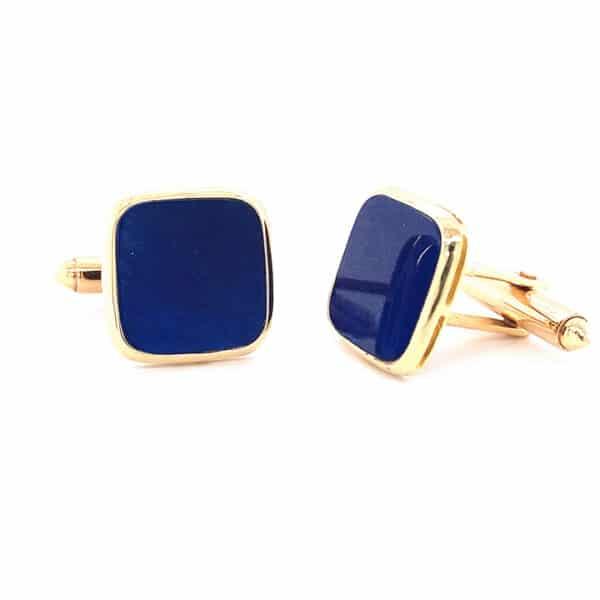 Lazuli Lapis Cushion Cuff Links