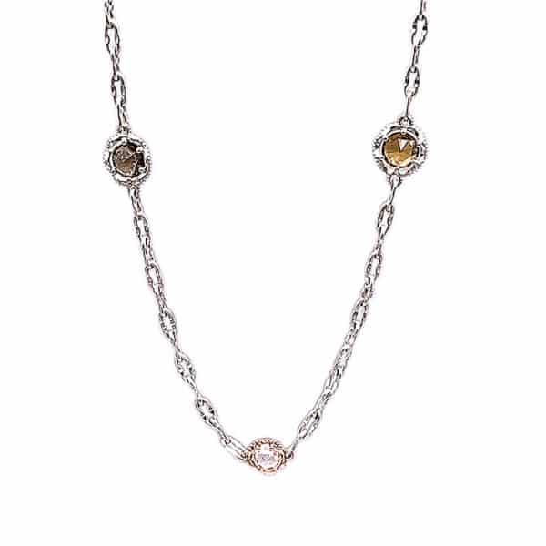 Kaleidoscope Medley Gemstone 18K Rose Gold Necklace