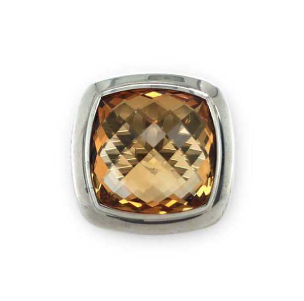 Sterling Silver Citrine Estate Fashion Ring