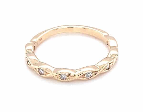 Diamond 18K Yellow Gold Estate Ring